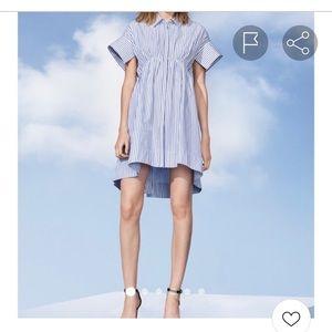 NWOT Victoria Beckham Target Striped Shirt Dress